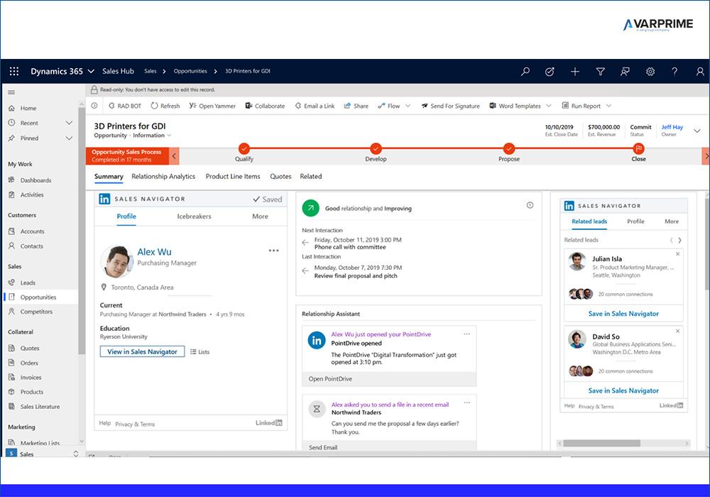 Sales Navigator Linkedin e Dynamics 365