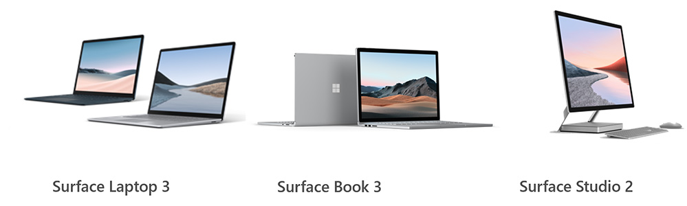 Microsoft Surface - Laptop 3, Book3, Studio2