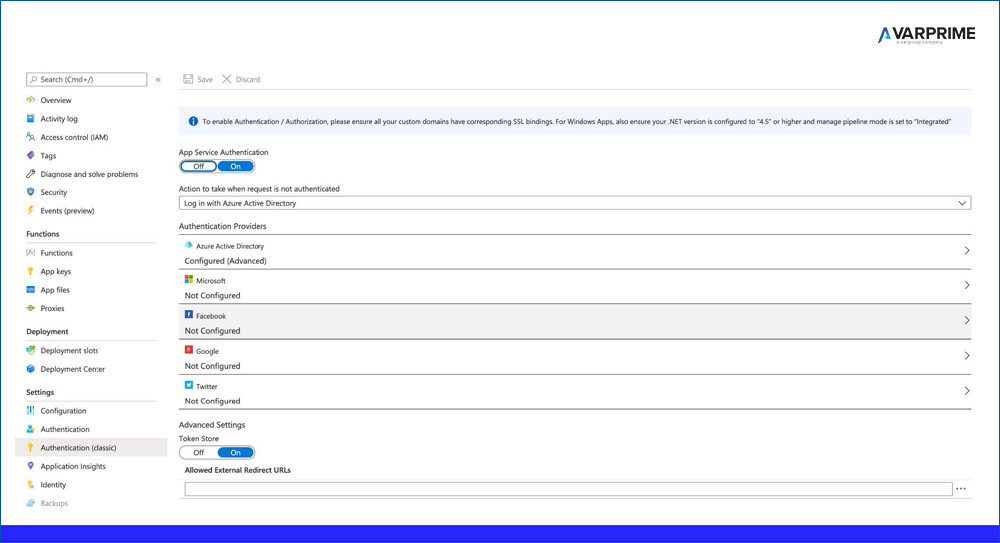 Azure Function esposta come API